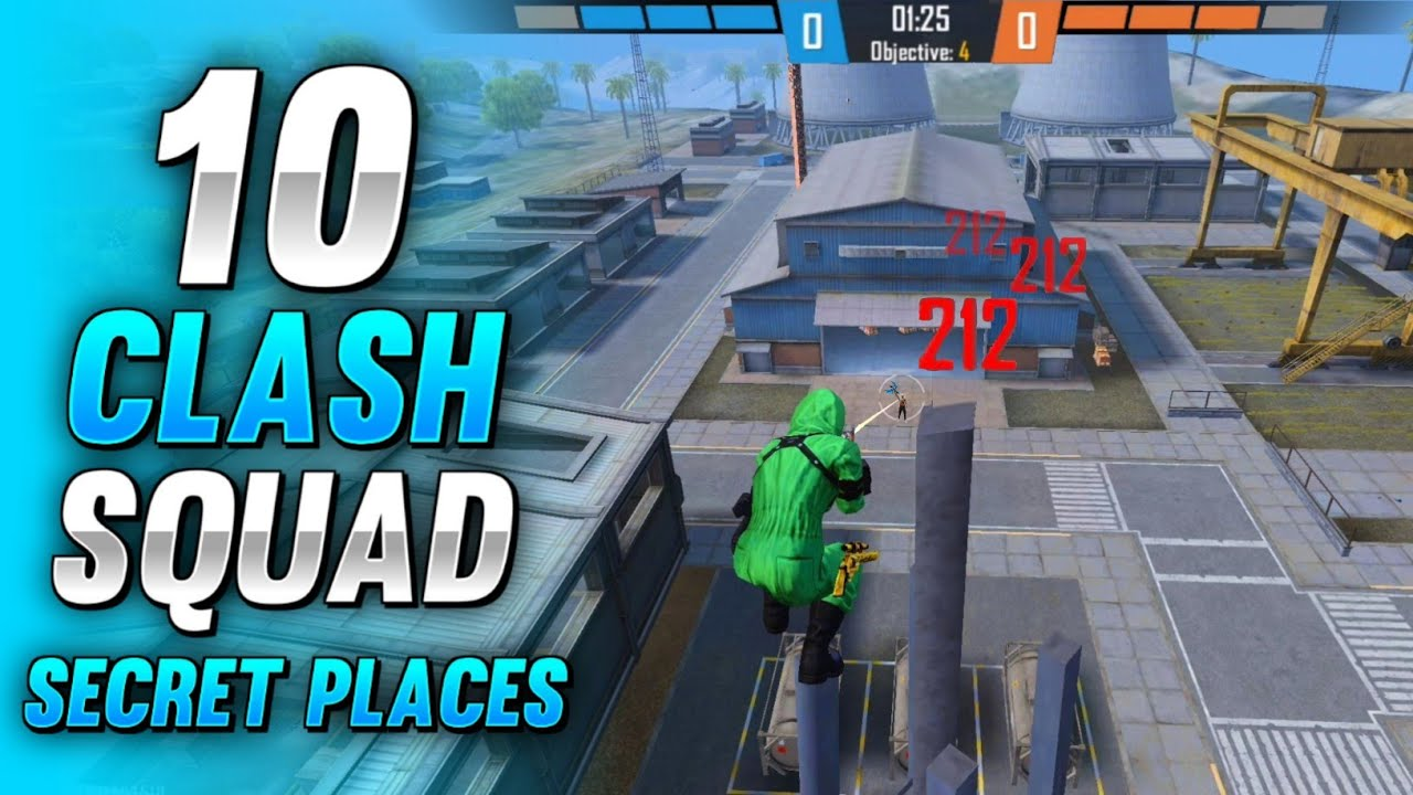 TOP 10 CLASH SQUAD SECRET PLACES IN FREE FIRE   FREE FIRE CLASH SQUAD TIPS AND TRICKS (PART - 22)