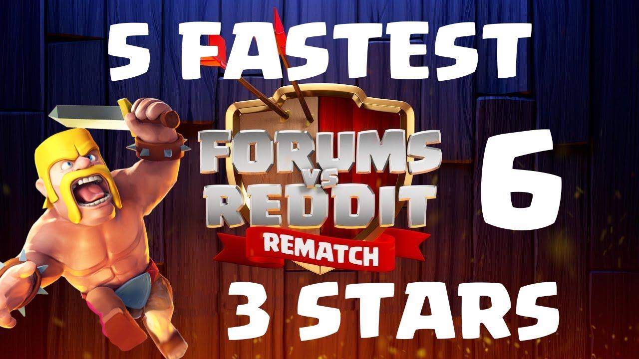 Reddit vs Forums #6 - Top 5 Fastest 3 Stars