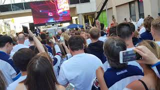 Winnipeg Jets vs Vegas Golden Knights Game 1 WCF Whiteout Street Party Canadian National Anthem
