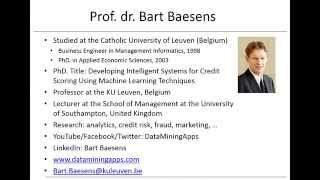 Advanced Analytics in a Big Data World - by Prof Bart Baesens