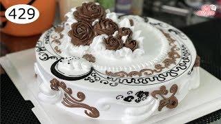 chocolate cake decorating bettercreme vanilla (429) Học Làm Bánh Kem Đơn Giản Đẹp - Hoàng Gia (429)