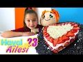 Çocuklar için Hayal Ailesi dizisi.  Sevgililer günü pastası. Kızlar için video. Kolay pasta tarifi