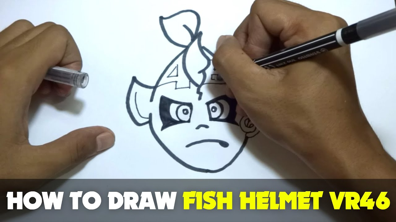 how to draw bike helmet front on