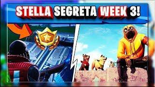 STELLA SEGRETA WEEK 3 SEASON 9 FORTNITE! - WEEK 3 SECRET BATTLE STAR LOCATION GUIDE!
