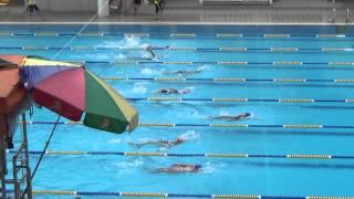 2015元朗區小學校際游泳比賽 女丙 50背決 嵐 洛 蔚
