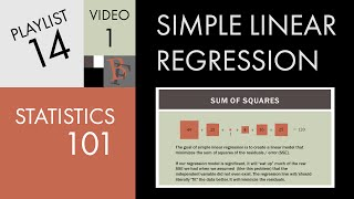 Statistics 101: Simple Linear Regression, The Very Basics