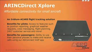 Aero-TV: Rockwell Collins ARINCDirect - AEA 2018 New Product Introduction