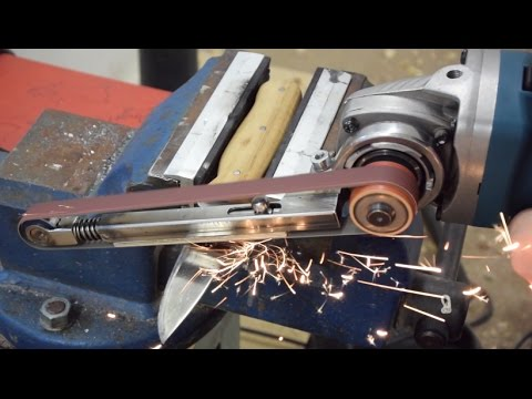 How to make a Power File (with basic tools)   Angle Grinder Hack   Grinder Attachment