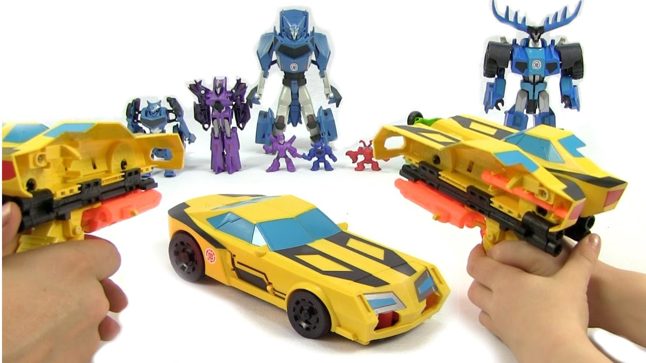 """Titan Changers 12/"""" Toy Robots In Disguise Transformers Bumblebee Action Figure"""