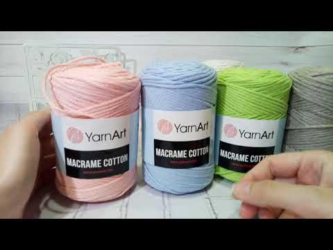 Обзор пряжи YarnArt Macrame Cotton - хлопковый шнур для вязания