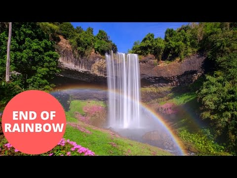 Breath-taking video of the end of the rainbow - a stunning waterfall