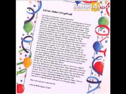 Miniballon Smiley mit Geburtstagsbrief lustig Art. Nr