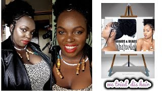 I TRIED LUCHI LOYALE DETAILED HOW TO: AFRICAN FULANI BRAIDS & BEADS ,STRINGS , WIGS TUTORIAL GRWM