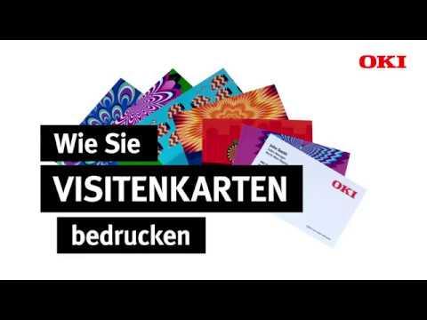 Wie Sie Mit Oki Ganz Einfach Visitenkarten Bedrucken