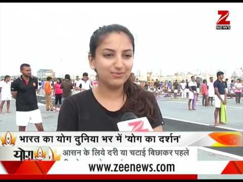 Watch: India celebrates 3rd International Yoga Day   इस तरह मनाया भारत ने अंतर्राष्ट्रीय योग दिवस
