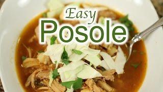 Quick Posole Mexican Soup  Chicken Pozole Recipe