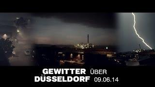Gewitter über Düsseldorf - Pfingsten 9.6.14