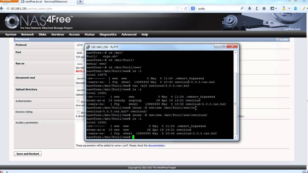 owncloud nas4free