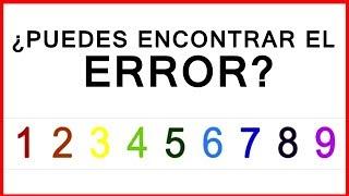 ¿PUEDES ENCONTRAR EL ERROR? ACERTIJOS IMPOSIBLES | FoolBox ...
