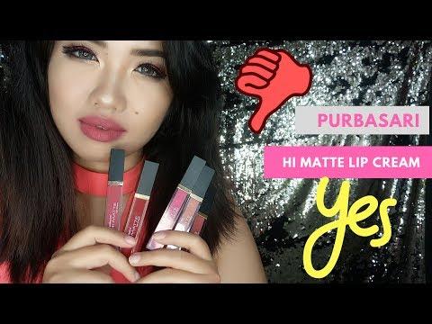purbasari-hi-matte-lip-cream//-makeup-review-//-beauty-vlogger-indonesia