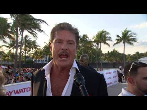 "Baywatch: David Hasselhoff ""The Mentor"" Red Carpet Premiere Movie Interview"
