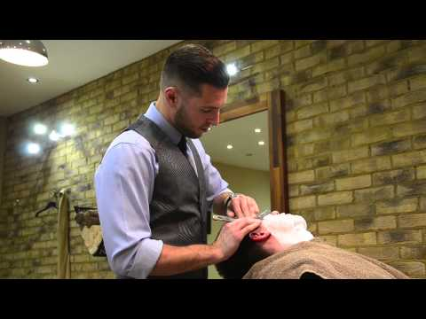 Old school straight shave by The Barber Luke