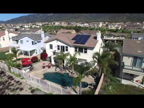 Aerial Tour for 12801 Mediterranean Dr  Rancho Cucamonga CA