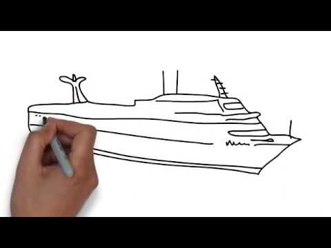 How To Draw Cruise Ship Youtube