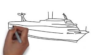 How To Draw Cruise Ship
