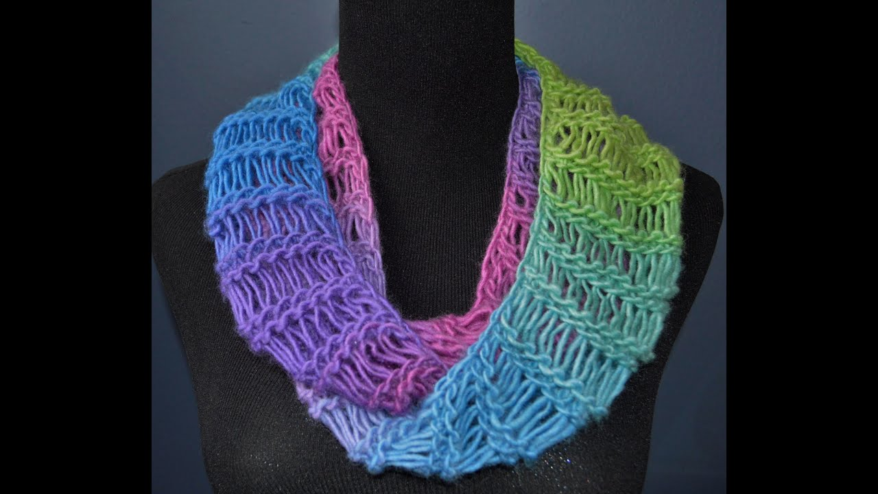 Loom Knit Bind Off Infinity Scarf Youtube