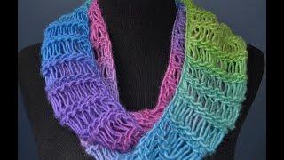 Loom Knit Bind Off Infinity Scarf