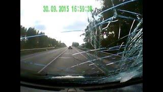 разбил ветровое стекло