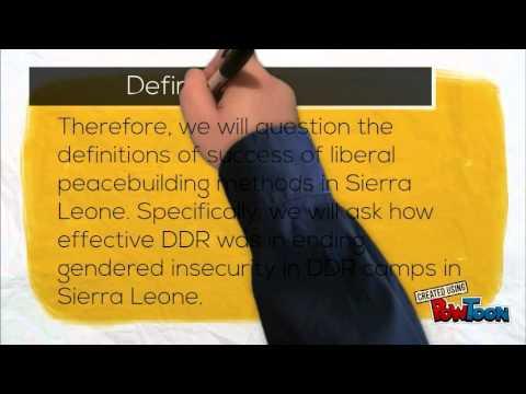 Evaluating Liberal peacebuilding in Sierra Leone