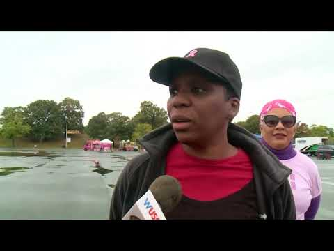 Thousands gather at RFK stadium for Strides for Breast cancer walk