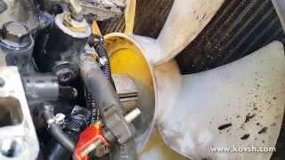 Установка вентилятора охлаждения двигателя обратной стороной, снижает его эффективность