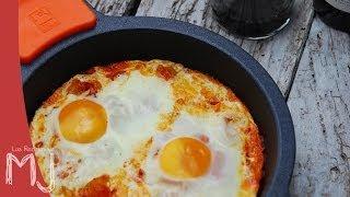 HUEVOS AL PLATO | Fácil y rápido ¡Desayuno de campeones!