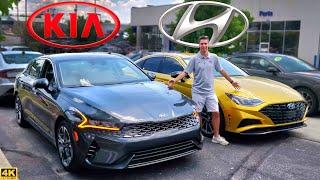 MIDSIZE THREATS! --  2021 Kia K5 vs. 2020 Hyundai Sonata: Comparison