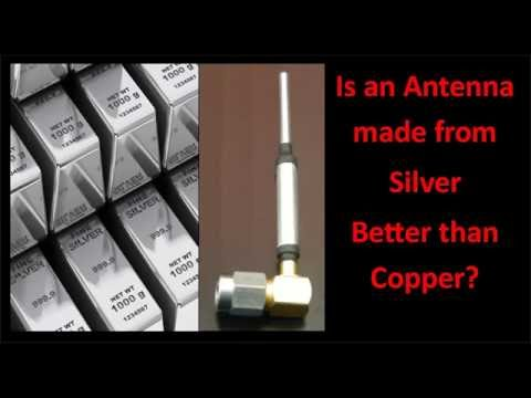 Will an antenna made from silver be better than copper?