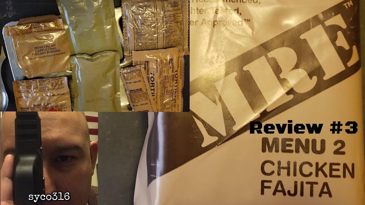 MRE Review #3: US MRE Menu 2 Chicken Fajita