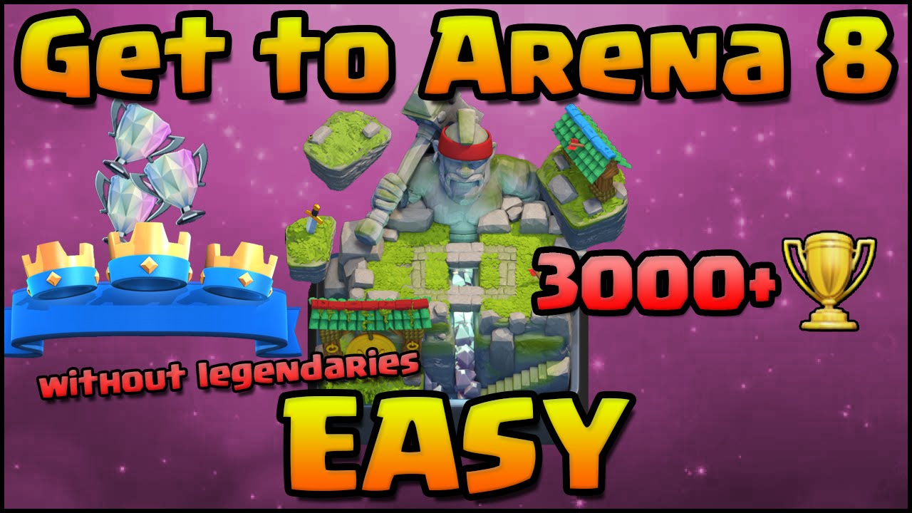 clash royale best arena 8 decks without legendaries