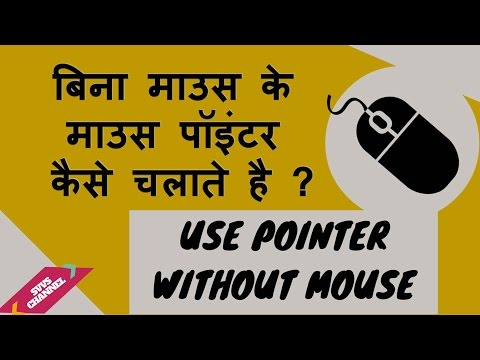 How to control the cursor/pointer without a mouse/ Learn Computer in Hindi