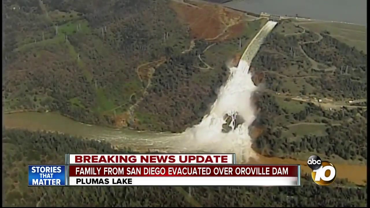 Family from San Diego evacuated over Oroville Dam