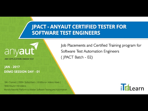 AnyAUT Certified Tester FREE Training for automation test engineers day 01 (JPACT Batch 02)