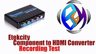 Etekcity Component RGB YPbPr R/L to HDMI Converter (PlayStation 2 test)