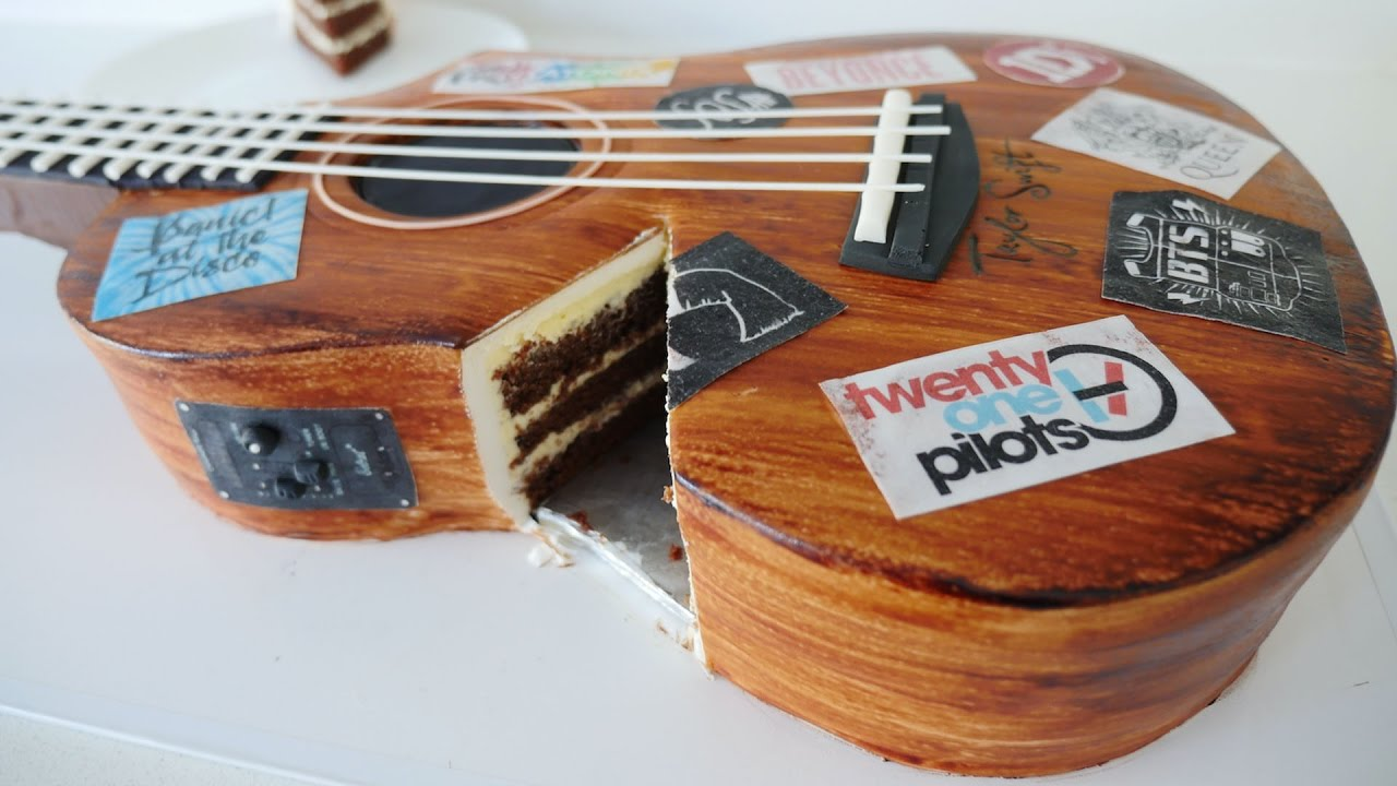 Realistic Guitar Cake How To Cook That Ann Reardon