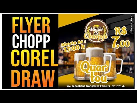 #CORELDRAW Criar Panfleto  de Chopp Corel Draw Tutorial
