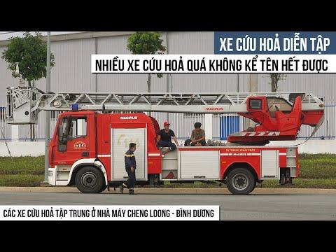 Xe Cứu Hỏa Tập Trung Tại Nhà Máy Cheng Loong - Bình Dương | Fire Truck For Kids | Spotting Vehicles