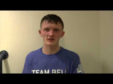 DONCASTER'S TOM BELL POST FIGHT INTERVIEW AFTER HIS POINTS WIN IN SHEFFIELD W/ TYAN BOOTH