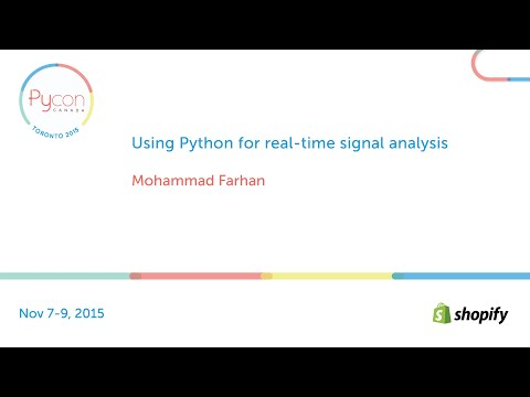 Using Python for real-time signal analysis (Mohammad Farhan