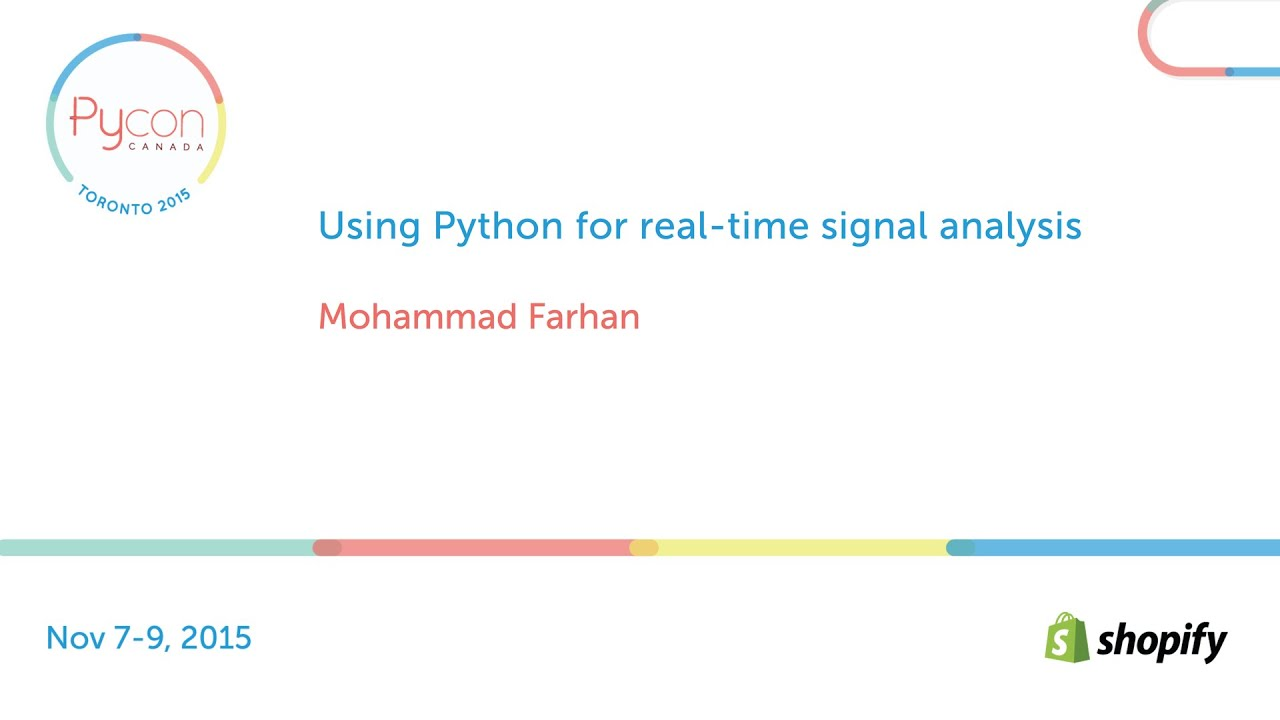 Image from Using Python for real-time signal analysis